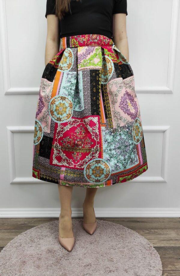 Suknja Lirra-šareni dezen-Koala Shop