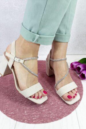 sandale sa srebrenim remenom-Koala shop